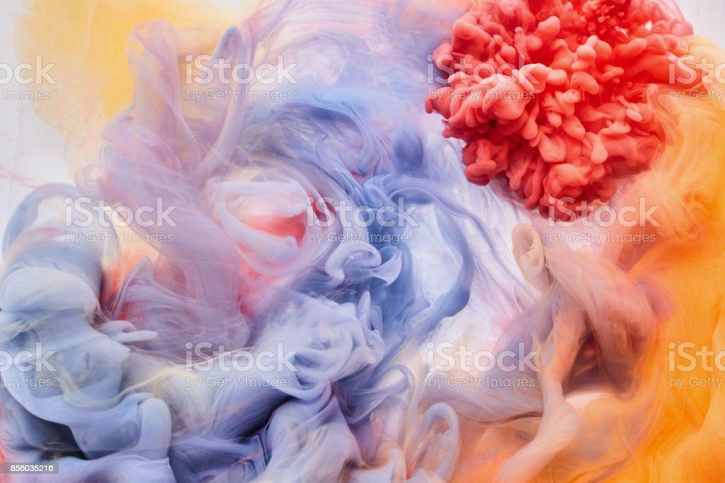 Acryl Farbe-Farben sind im Wasser – Foto