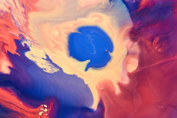 Acryl Farbe malt Formen und Tapeten - Dekor – Foto