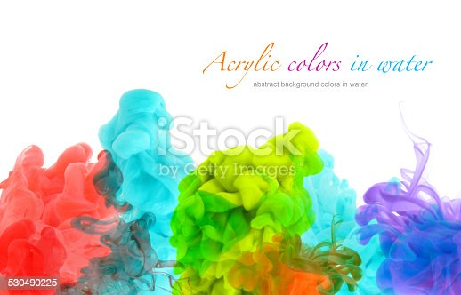 578561164 istock photo Acrylic colors in water. Abstract background. 530490225
