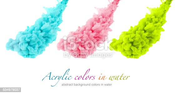 istock Acrylic colors in water. Abstract background. 534979037