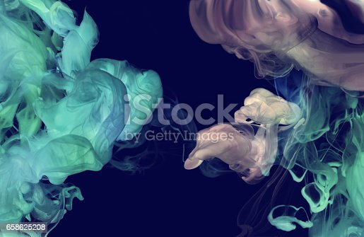 istock Acrylic colors in water. Abstract smoke background. 658625208