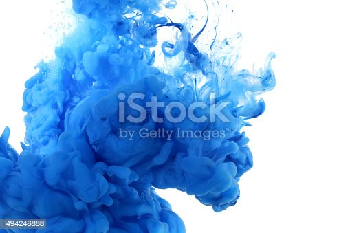 istock Acrylic colors in water. 494246888