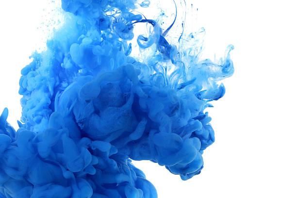 acrylic colors in water. - ink stock pictures, royalty-free photos & images