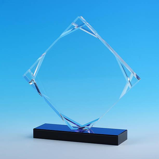 acrylic cup, glass award stock photo