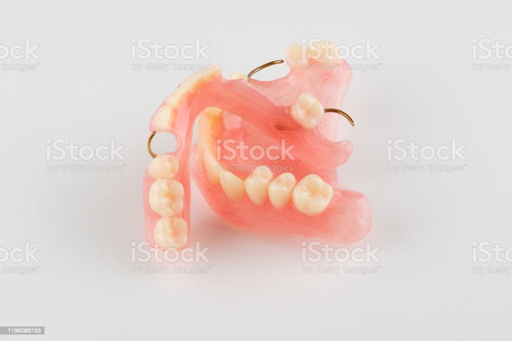 acrylic dental prosthesis - Zbiór zdjęć royalty-free (Badanie lekarskie)