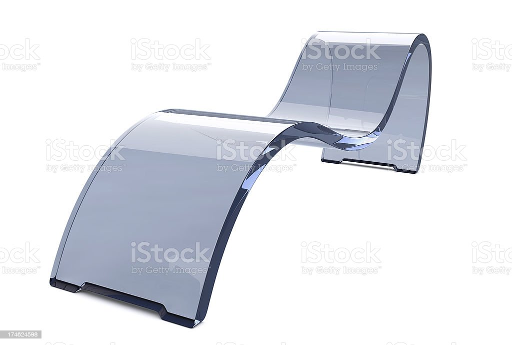 Acrylic Glass Recliner Chair stock photo