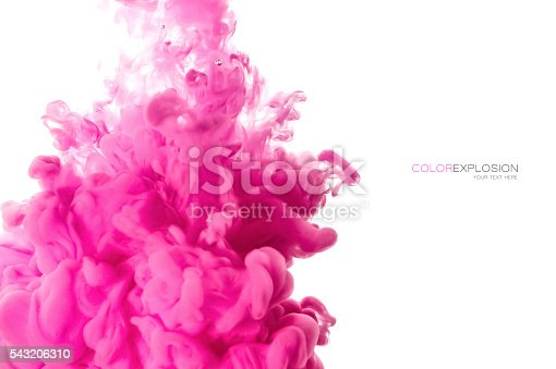 istock Acrylic Ink in Water. Color Explosion 543206310