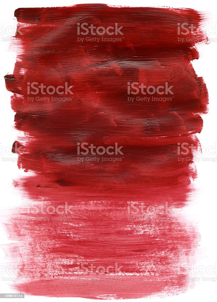 Acrylic Paint Red Texture royalty-free stock photo