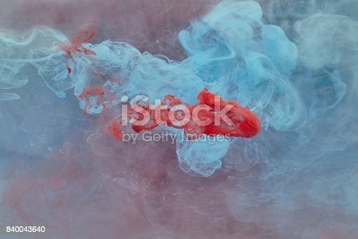 istock Acrylic paint shaped in water 840043640