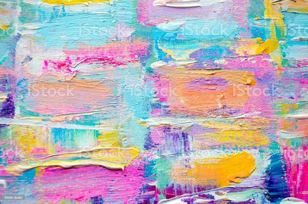 Peinture acrylique sur toile. Texture de couleur. - Photo de Abstrait libre de droits