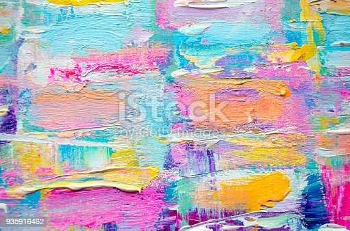 istock Acrylic painting on canvas. Color texture. 935916462