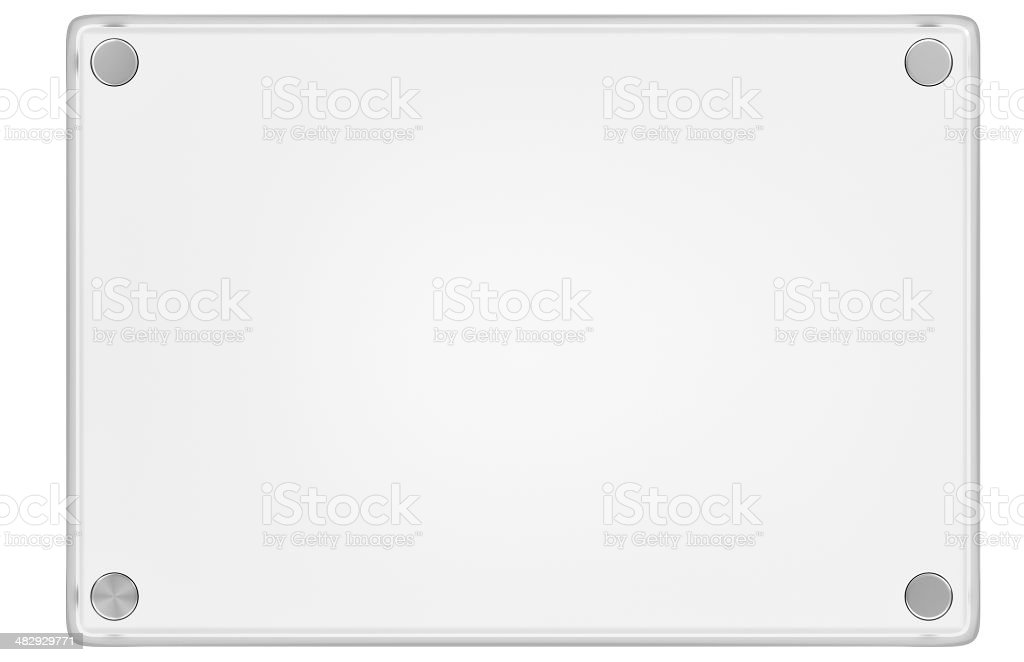 Acryllic (Plastic, Glass) Display Plaque stock photo