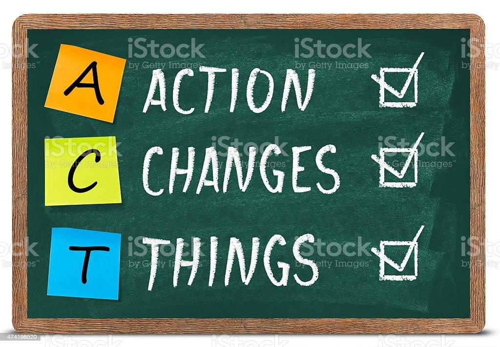 Act concept stock photo