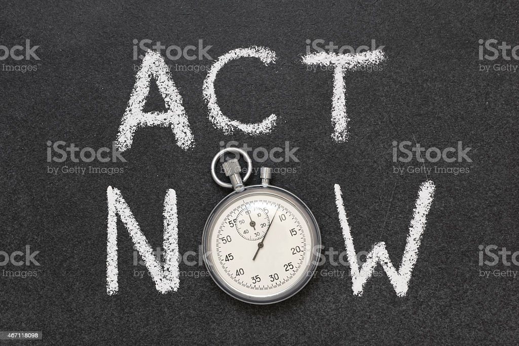 act now stock photo