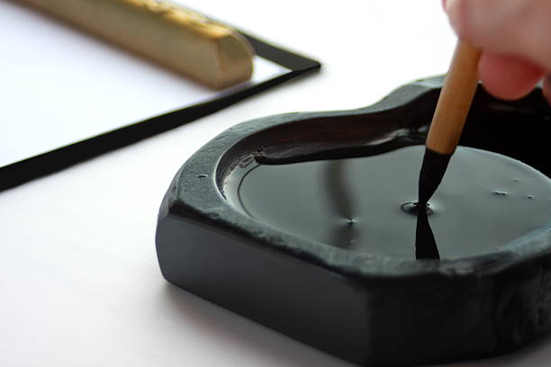 act of writing beautifully, called calligraphy, japanese culture - 習字 ストックフォトと画像
