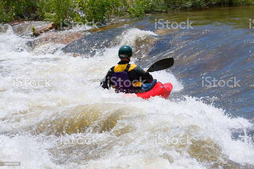 Action at the Golden Colorado Whitewater Park royalty-free stock photo
