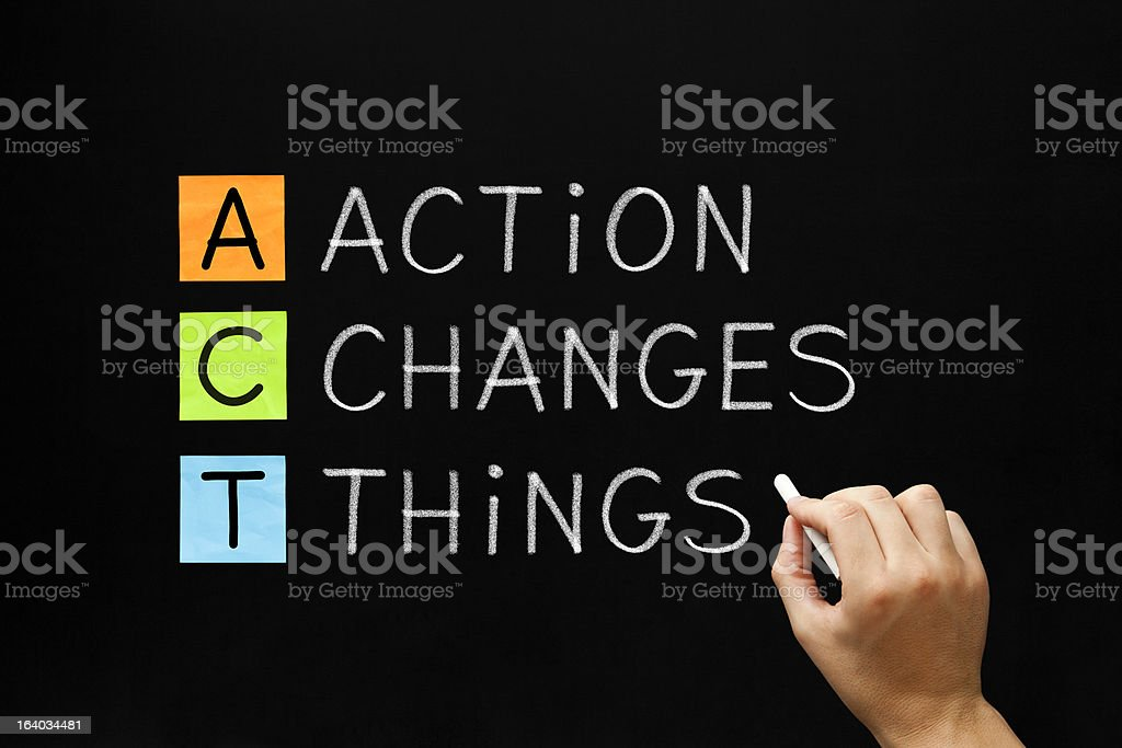Action Changes Things Acronym stock photo