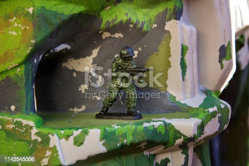 Soldier Action Figure in battle