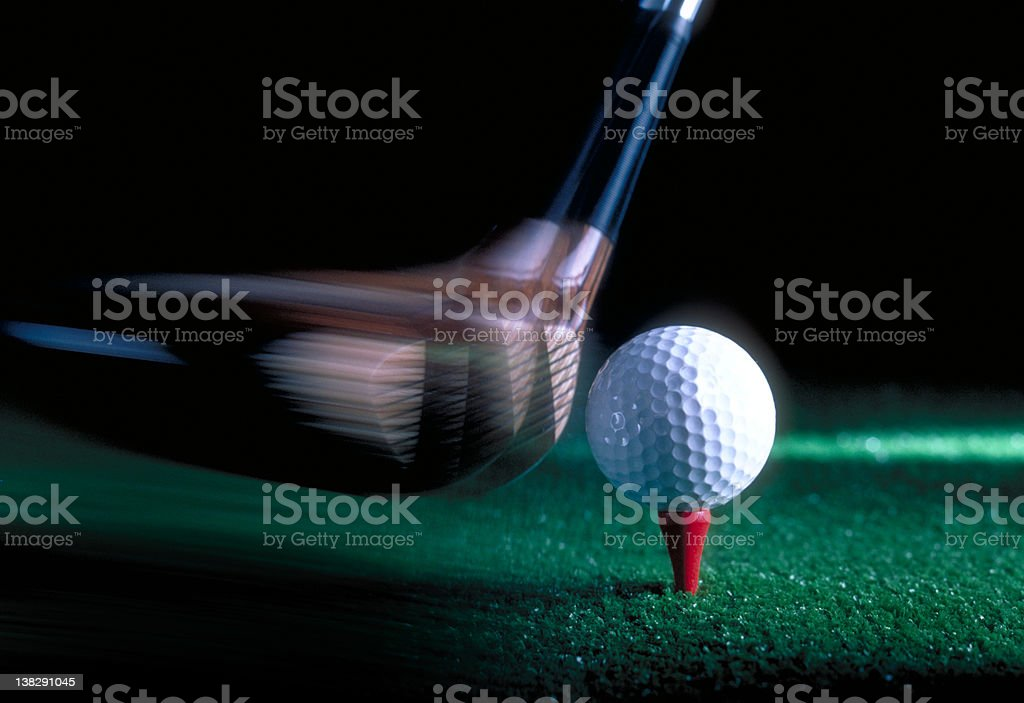 action - golf swing royalty-free stock photo