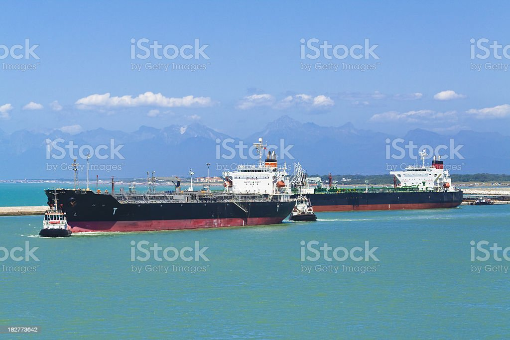 action in the port royalty-free stock photo