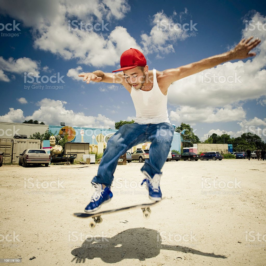 Action Jump - Skateboarder royalty-free stock photo