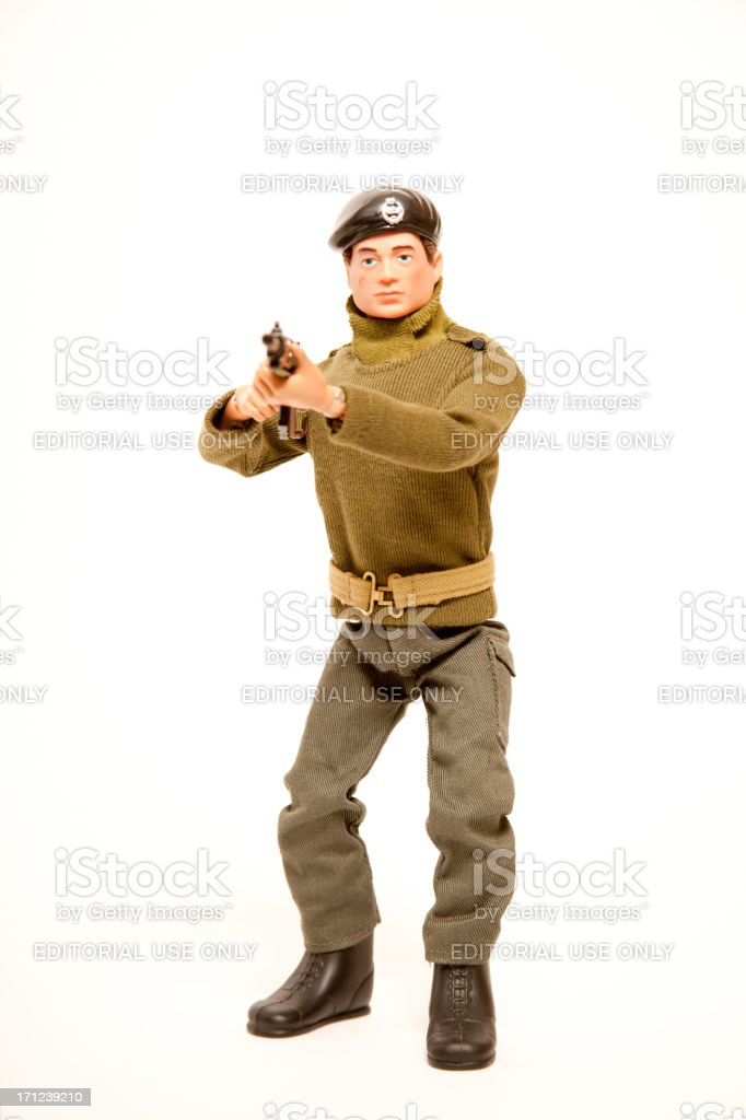 Action Man Toy Soldier Figure royalty-free stock photo