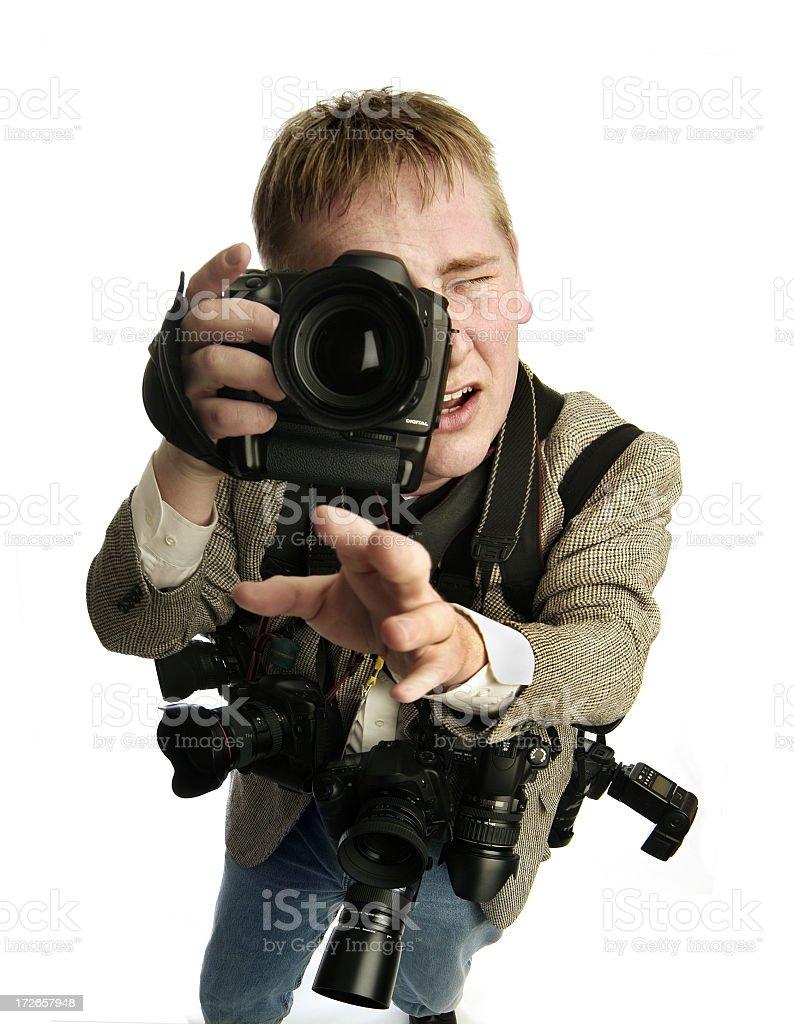 Action Photographer 02 royalty-free stock photo