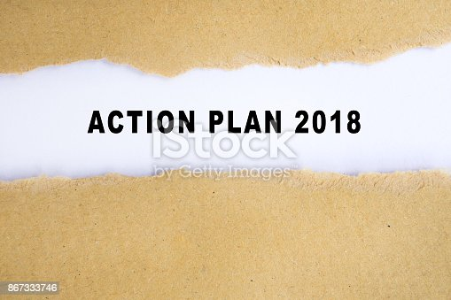 action plan 2018 words on torn paper background stock photo more pictures of accuracy istock