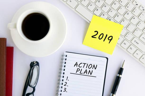 Action Plan 2019 stock photo