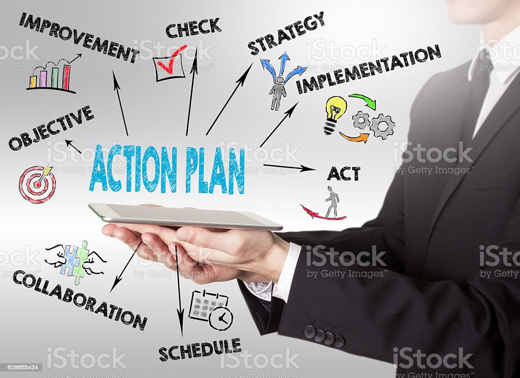 Action Plan concept stock photo