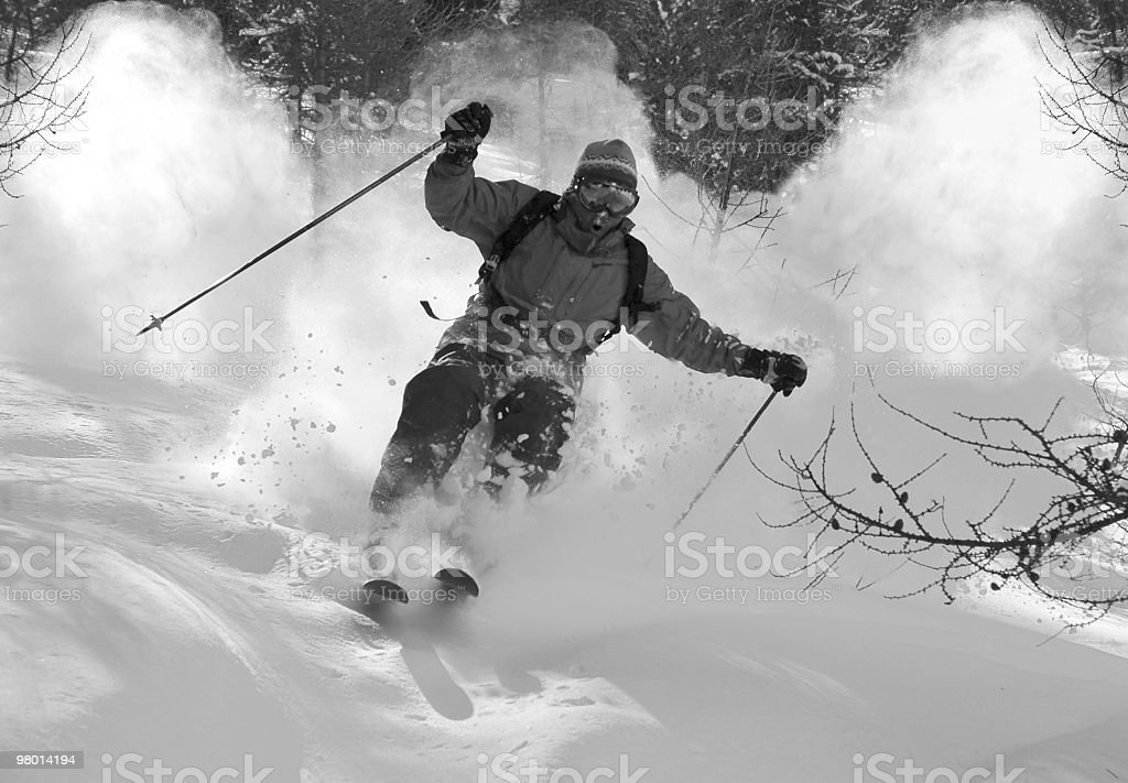 Action Powder in Black & night royalty-free stock photo