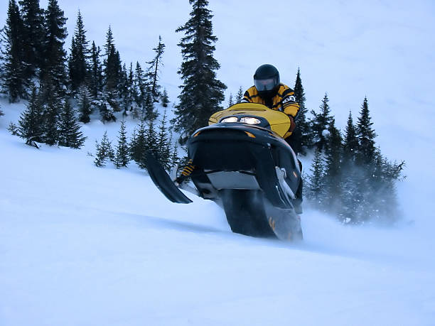 Action Shot - Ski Doo stock photo