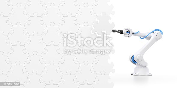 istock Action Show Of Robotic Manipulator 947341848