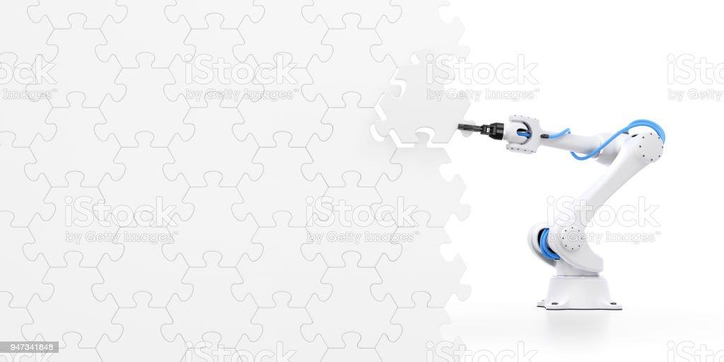 Action Show Of Robotic Manipulator stock photo