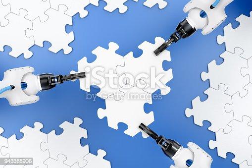 istock Action Show Of Robotic Manipulators 943388906
