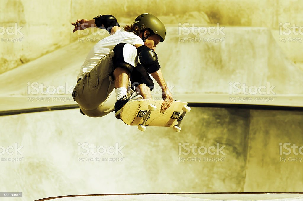 Action Skateboarding stock photo