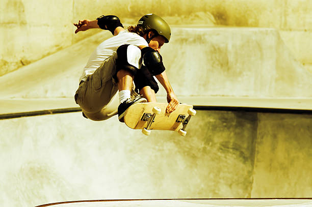 Action Skateboarding stock photo