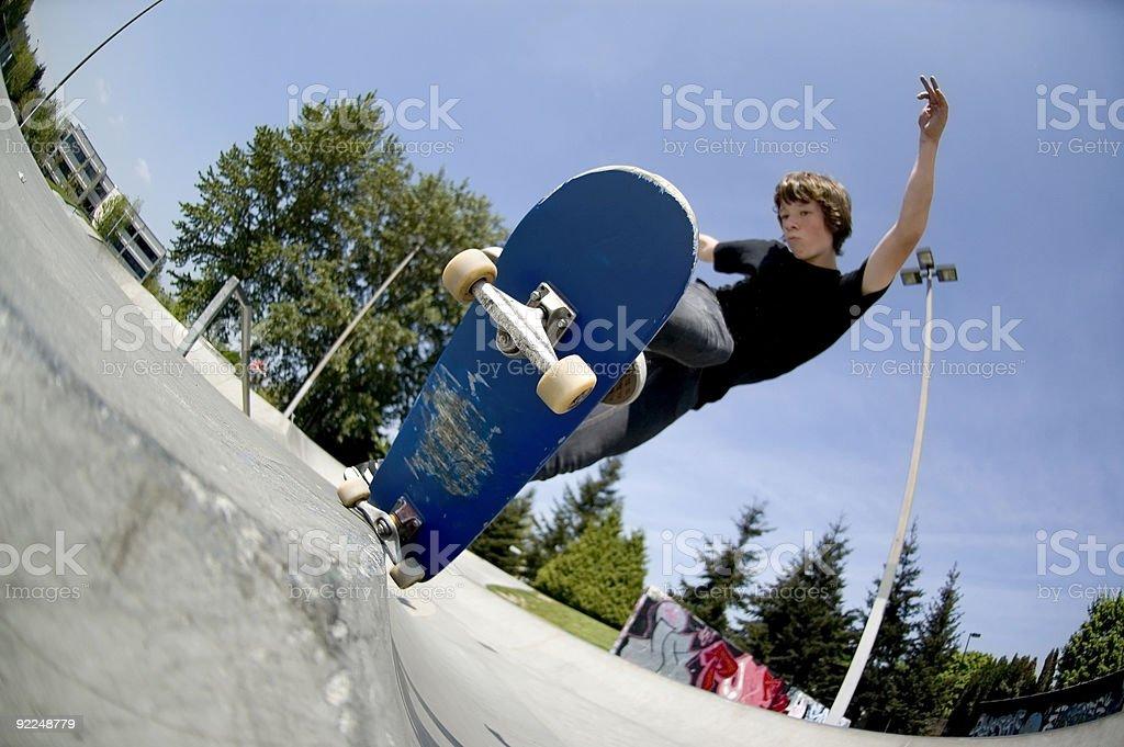 Action Sports - Josh 5-0 Axel Stall royalty-free stock photo