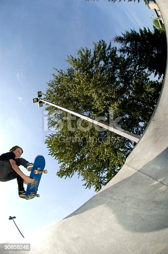istock Action Sports - Josh Air into Bowl 90656248