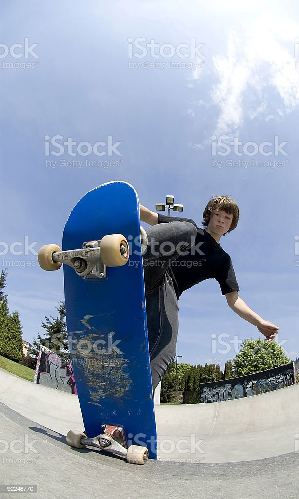 Action Sports - Josh Blunt Stall stock photo