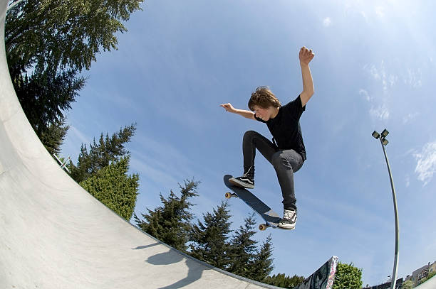 Action Sports - Josh BS Air stock photo