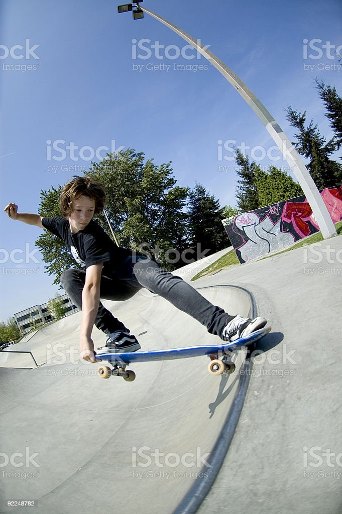 Action Sports - Josh Crail Slide royalty-free stock photo