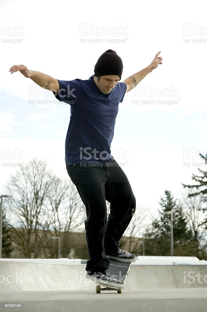 Action Sports - Nose Manual royalty-free stock photo