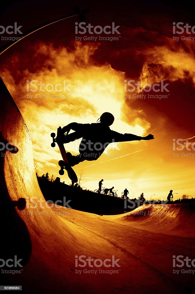 Action Sports - Silhouette royalty-free stock photo