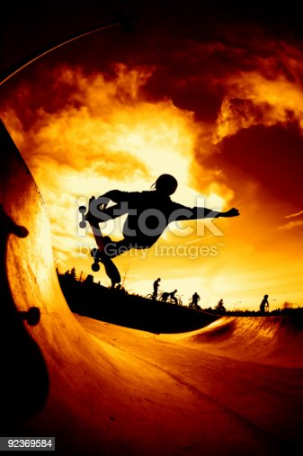 92451800 istock photo Action Sports - Silhouette 92369584