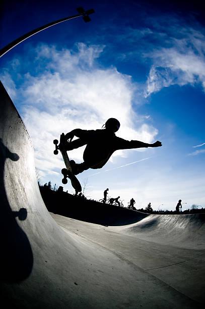 Action Sports - Skate Silhouette stock photo
