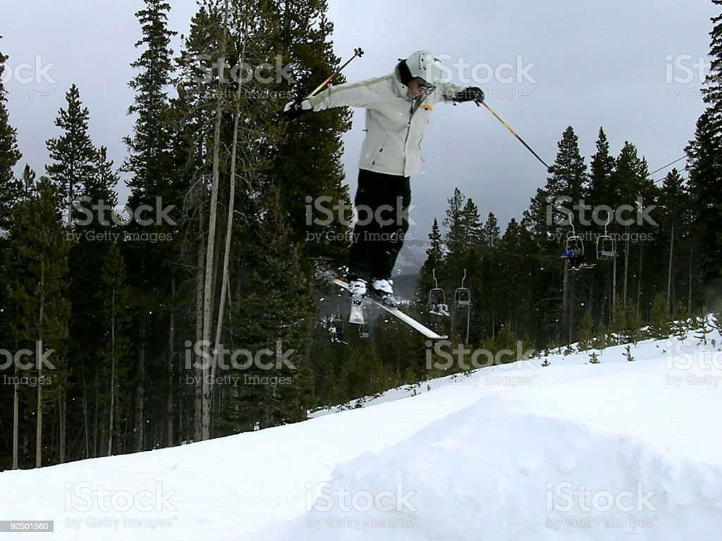 Action Sports-Skiing 360 Lizenzfreies stock-foto