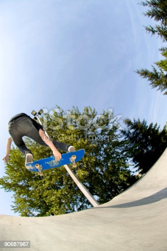 istock Action Sports - Youth Skateboard 2 90687967