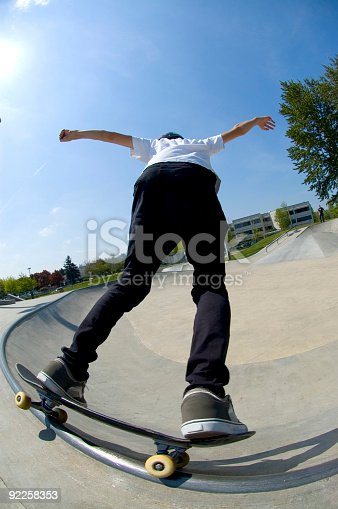 istock Action Sports - Youth Skateboard 3 92258353