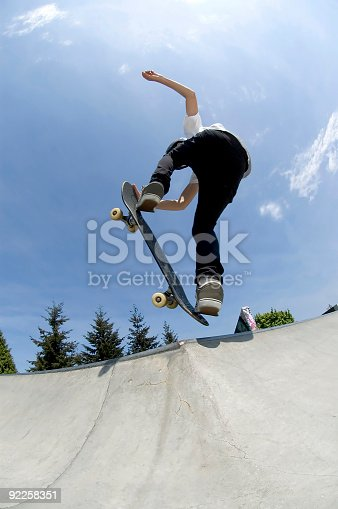 istock Action Sports - Youth Skateboard 4 92258351